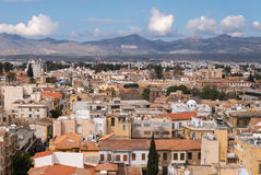 North Nicosia towards the hills of North Cyprus Royalty Free Stock Photography