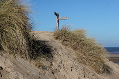 North Norfolk coastal footpath Stock Image