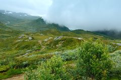 North Norway cloudy summer mountain Stock Image
