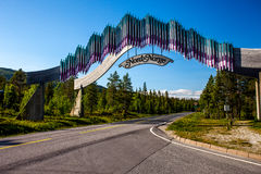 North Norway gate Royalty Free Stock Photo