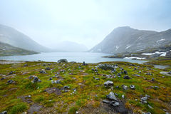 North Norway mountain  spring valley Stock Image