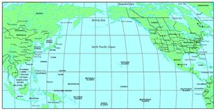 North- Pacificozean Lizenzfreie Stockfotos