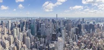 North panorama view from The Empire State Building with Midtown Manhattan and Central Park, New York, United States stock image