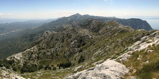 North part of Biokovo mountains Stock Photography