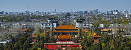 North part of the central line of beijing city Royalty Free Stock Images