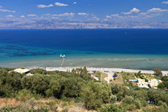 North part of Corfu island coast in Greece Royalty Free Stock Photo