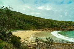 North Pebbly Beach, Murramarang National Park NSW stock image