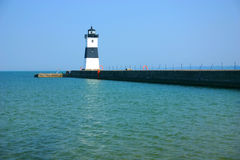 North Pier Lighthouse. Lighthouse found in Erie, Pa Royalty Free Stock Photos