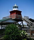 North Pier Lighthouse. This is a Summer picture of the North Pier Lighthouse now located in Two Rivers, Wisconsin in Manitowoc County. This structure was built royalty free stock image