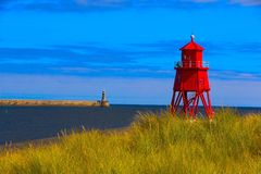 North Pier from South Shields. Stock Images