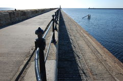 The north pier at Tynemouth Royalty Free Stock Photos