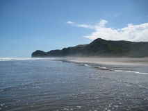 North Piha Beach. Waves on the North Piha Beach Royalty Free Stock Image