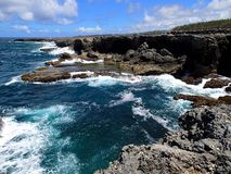 North point of Barbados with beautiful steep coast - Caribbean. North point of Barbados with beautiful steep coast and blue sky - Caribbean royalty free stock images