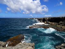 North point of Barbados with beautiful steep coast - Caribbean. North point of Barbados with beautiful steep coast and blue sky - Caribbean stock images