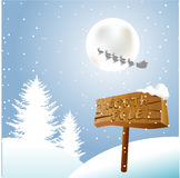 North Pole. Indicators for North Pole, Santa, your sleigh and reindeer Royalty Free Stock Images