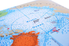 North Pole. With Arctic ocean Stock Photography