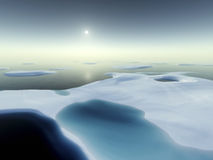 North pole. An image of a nice north pole scenery Royalty Free Stock Images