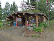 North Pole Alaska Visitor Center. Image from outside the visitor center in North Pole, Alaska Stock Photos