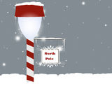 North Pole. Christmas background with North Pole lantern Stock Photography