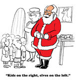 North Pole. Christmas cartoon about children getting to visit the North Pole Stock Photo