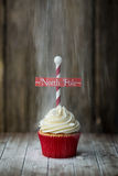 North Pole cupcake Royalty Free Stock Photos