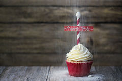 North Pole cupcake Stock Images