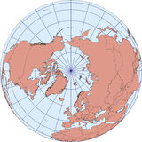 North Pole earth globe map Stock Photo