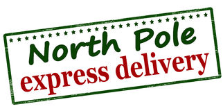 North Pole express delivery Royalty Free Stock Photo