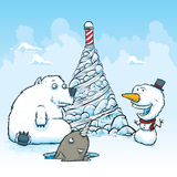 North Pole Friends Stock Photography