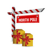 North pole gifts sign illustration design Royalty Free Stock Images