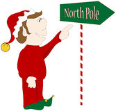 North Pole Graphic. Stock Photo