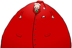North Pole Helper Fat Business Man With Santa Hat Cartoon Chararcter Royalty Free Stock Images