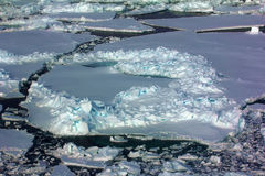 North pole 2016. The ice and openings on 84-88 parallel Royalty Free Stock Photo