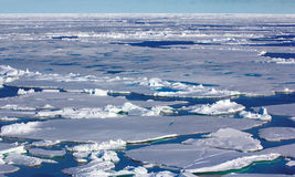 North pole 2016. The ice and openings on 84-88 parallel Stock Image