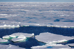 North pole 2016. The ice and openings on 84-88 parallel Royalty Free Stock Photography