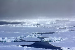 North pole 2016. The ice and openings on 84-88 parallel Royalty Free Stock Photos