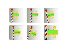 North pole icons set Royalty Free Stock Photography