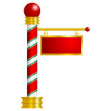 North Pole over white. North Pole sign with space to insert your text Stock Images