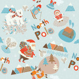 North Pole seamless pattern Stock Photography