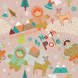 North Pole seamless pattern Stock Images