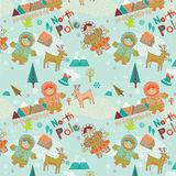 North Pole seamless pattern Stock Image