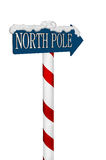North Pole Sign Royalty Free Stock Images