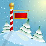 North Pole sign. Christmas theme. North Pole sign with copy space Royalty Free Stock Image