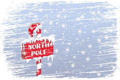 North Pole sign Stock Photo