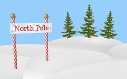 North Pole Sign Royalty Free Stock Photos