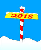 North Pole 2018 Sign Royalty Free Stock Photos