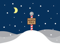 North Pole Sign Royalty Free Stock Photography