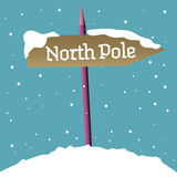 North Pole signpost royalty free stock photography