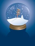 North pole snowglobe Stock Photos