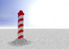 North Pole with Spiral Pattern on Ice. With Sky Royalty Free Stock Photo